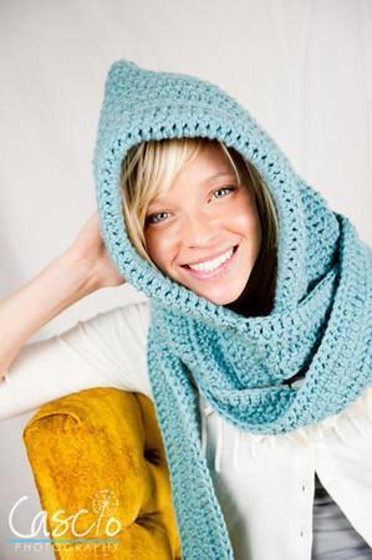 Crochet Hooded Scarf Pattern