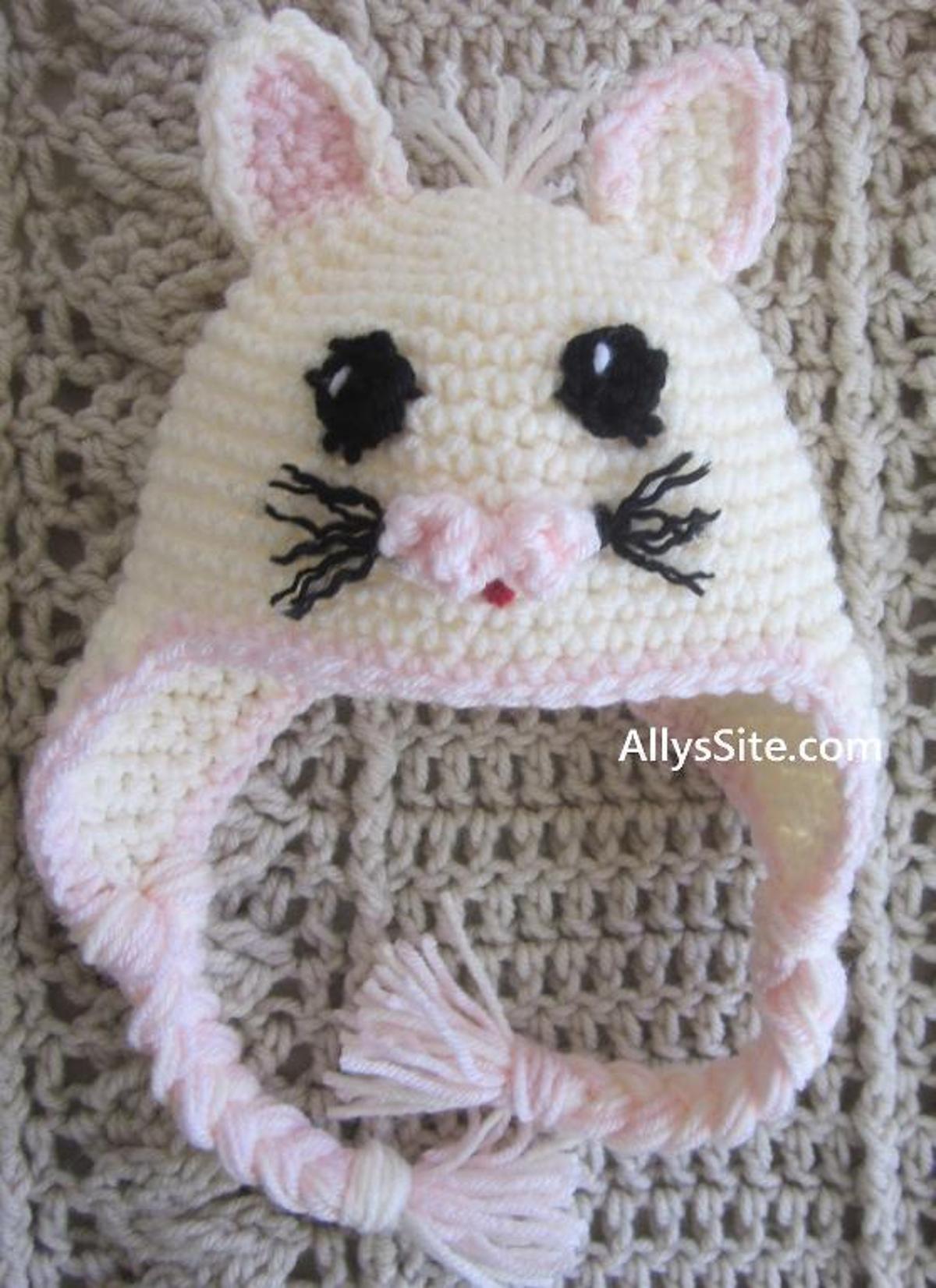 Crochet Kitty Hat FREE Pattern