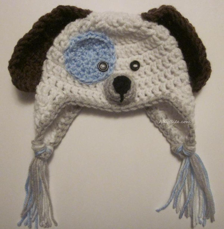 Crochet Puppy Dog Hat Crochet Pattern