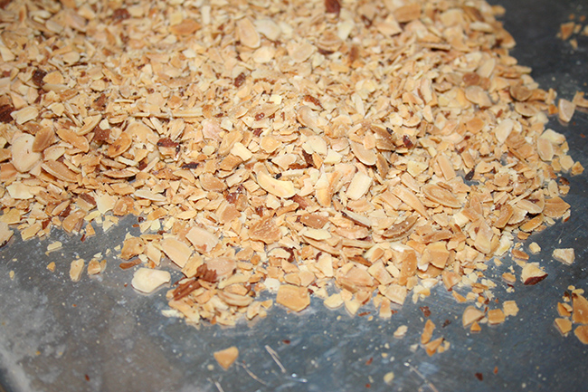 Crushed toasted almonds