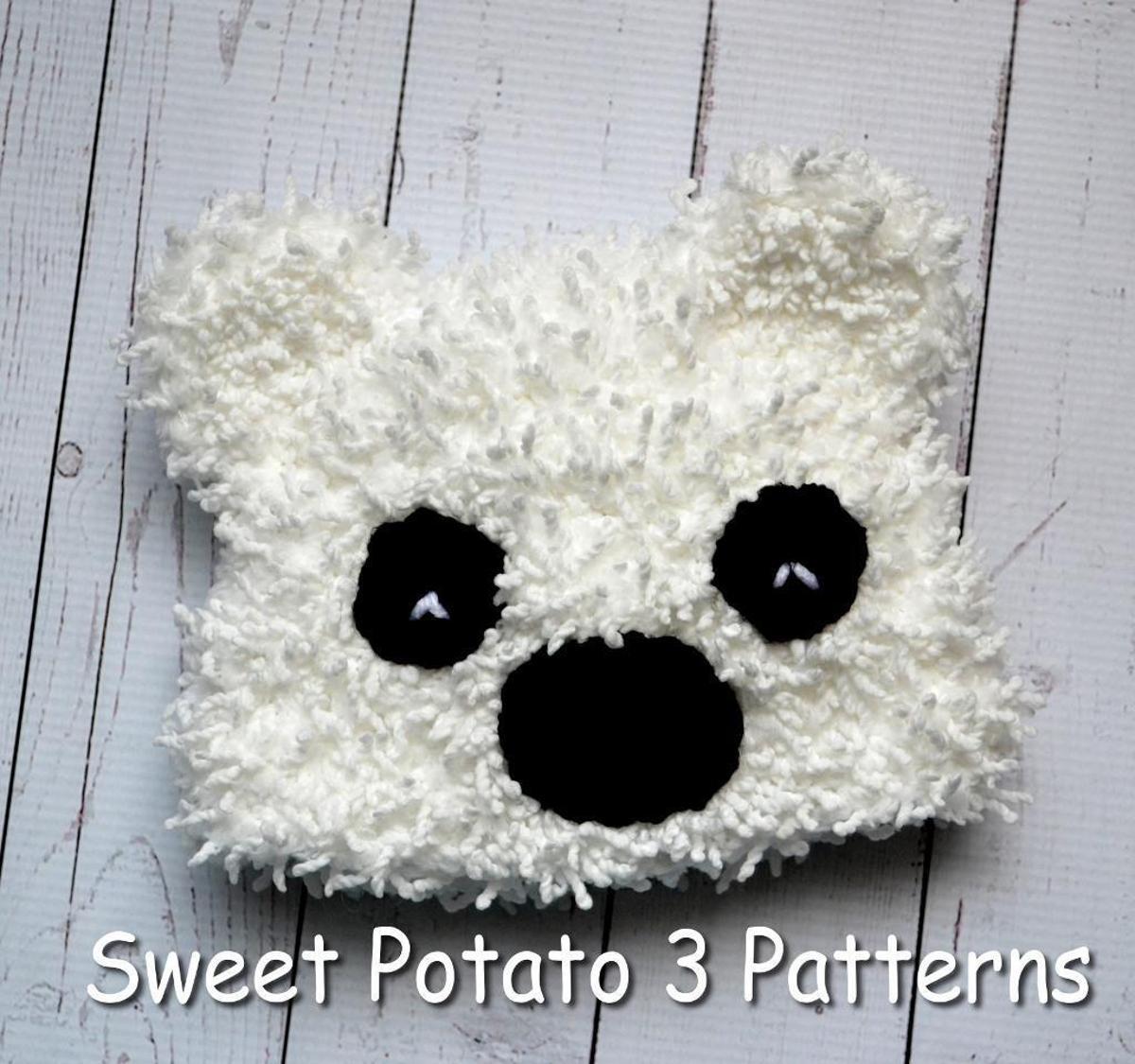 Cuddly Polar Bear Newborn Hat