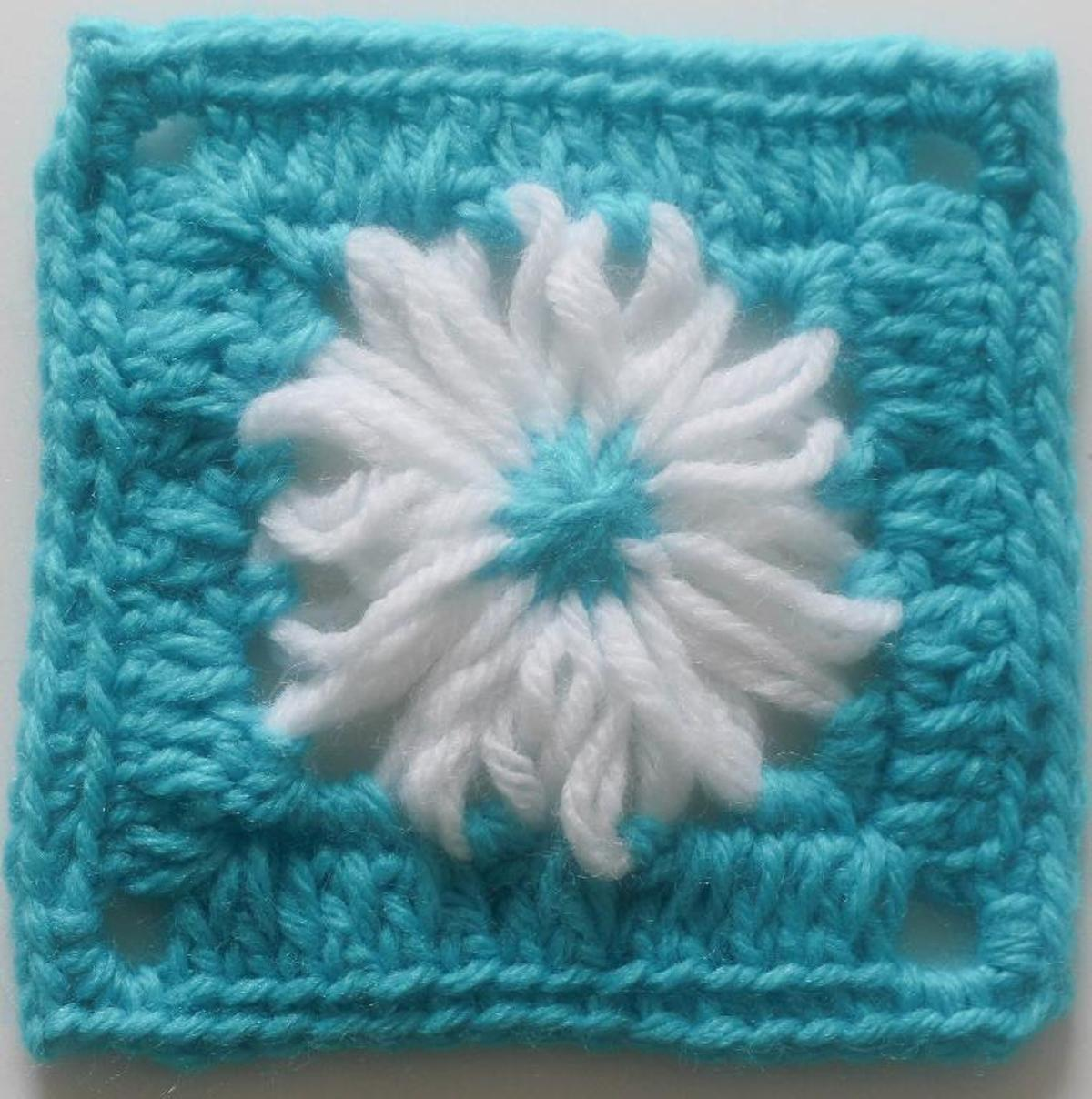 flower loom crochet granny square pattern