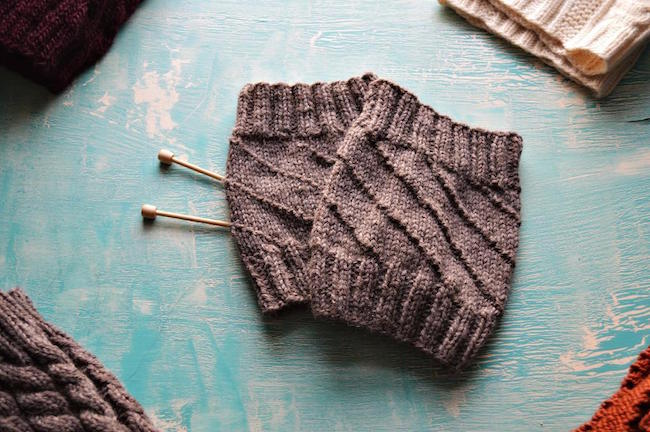 The Hurricane Boot Cuff Liners FREE Knitting Pattern