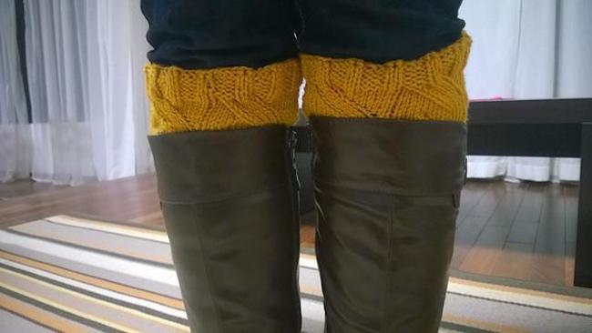 Sunflower FREE Boot Cuffs Knitting Pattern