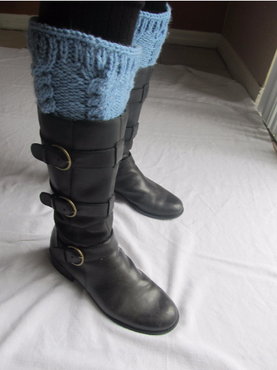 Cabled Boot Cuff FREE Knitting Pattern