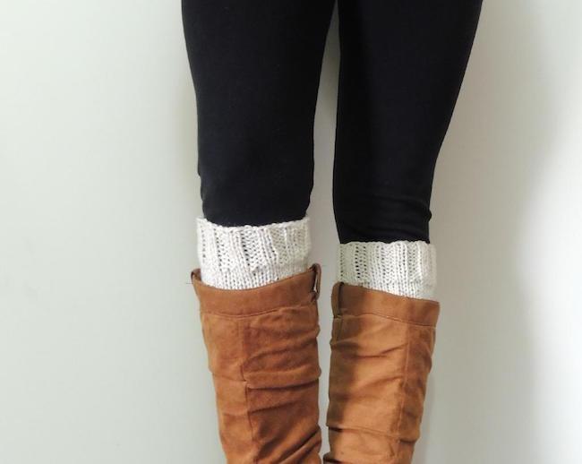 Basic Boot Cuffs FREE Knitting Pattern