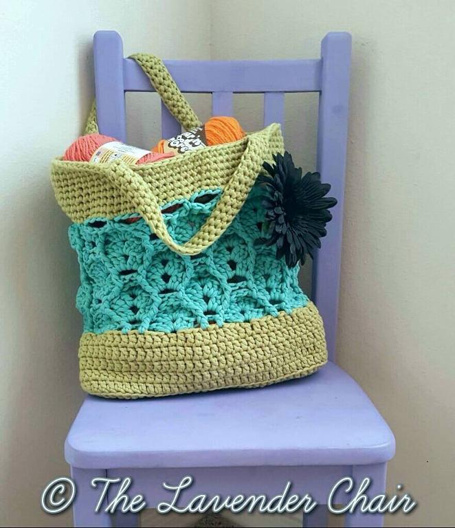 Wheat Fields Market Tote Crochet Pattern