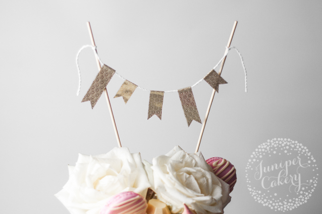 How to make cake bunting topper with washi tape