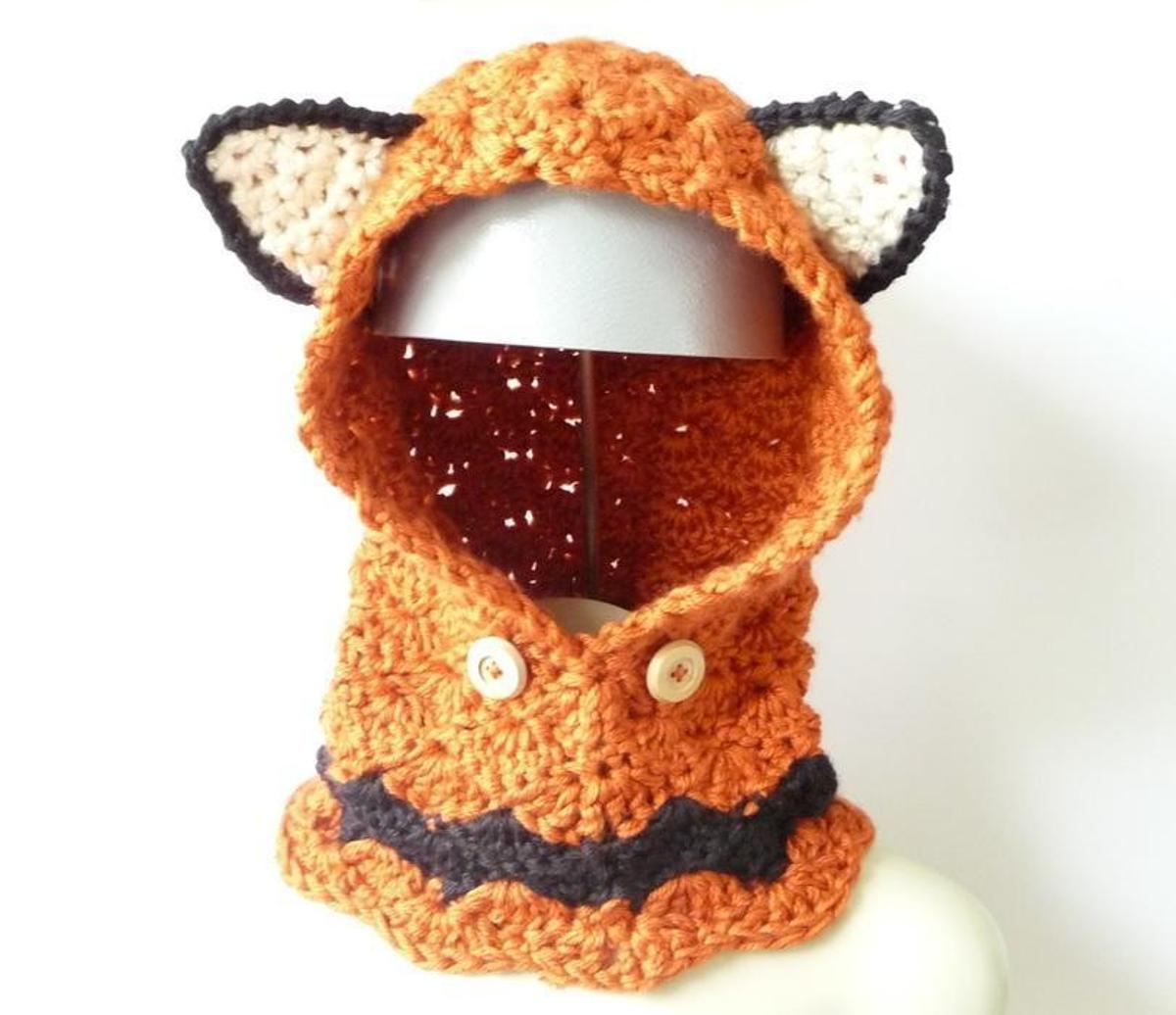 Fox Cowl Hood Crochet Pattern
