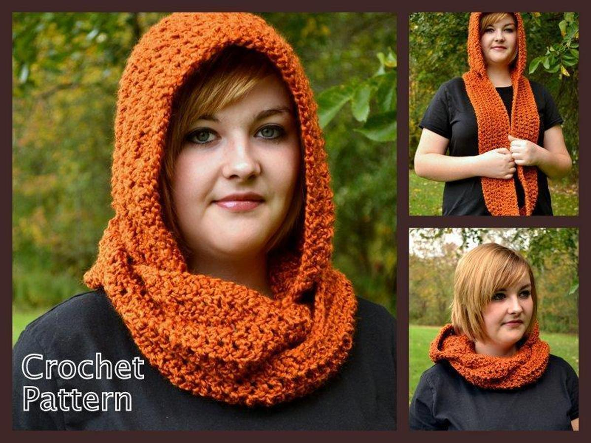 Hooded Scarf or Cowl Crochet Pattern