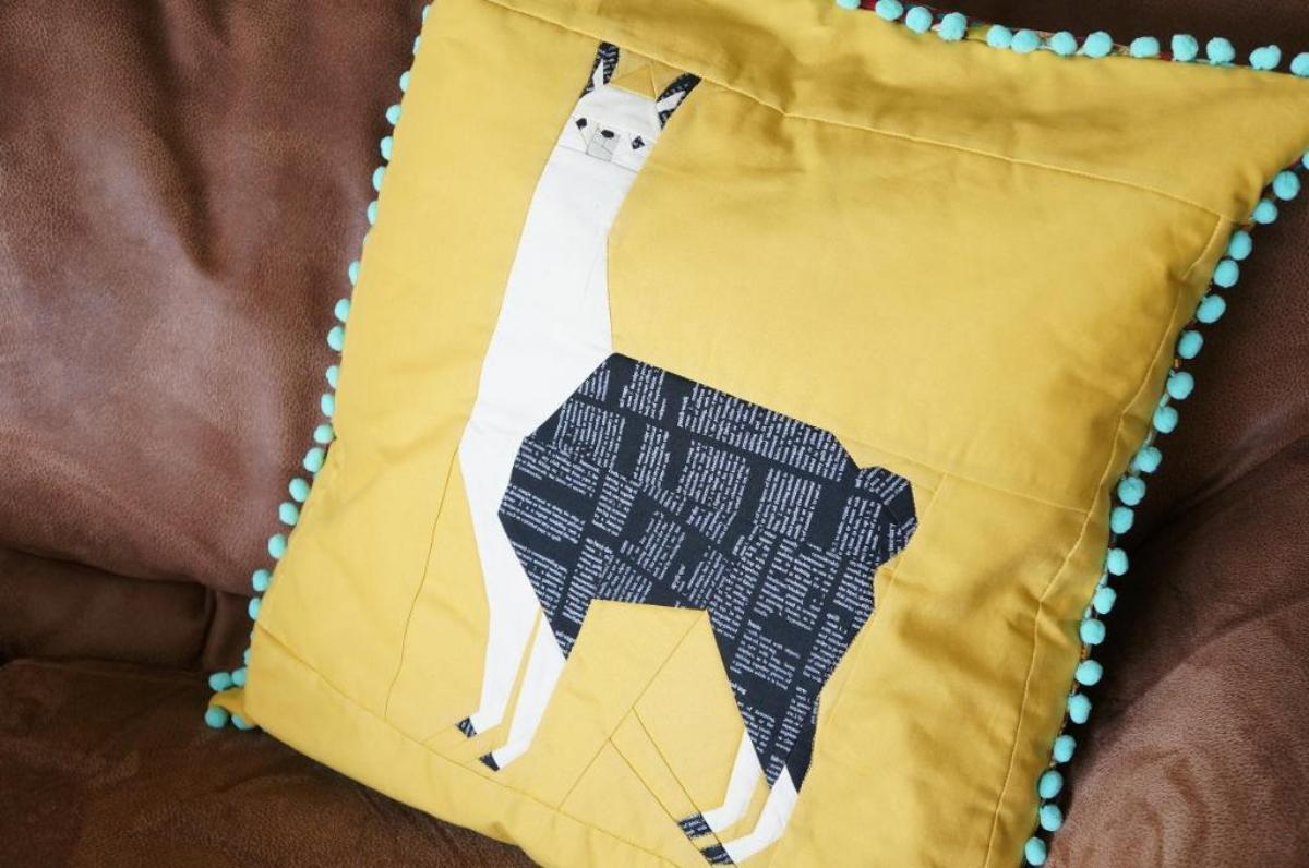 Leonard the Llama Quilt Block