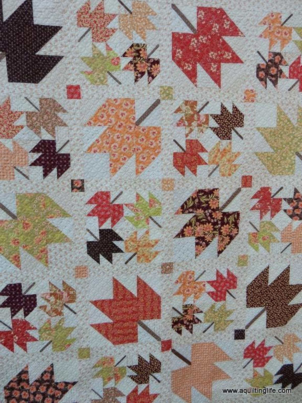 Fall Quilt Patterns: Maple Sky Fall Leaves