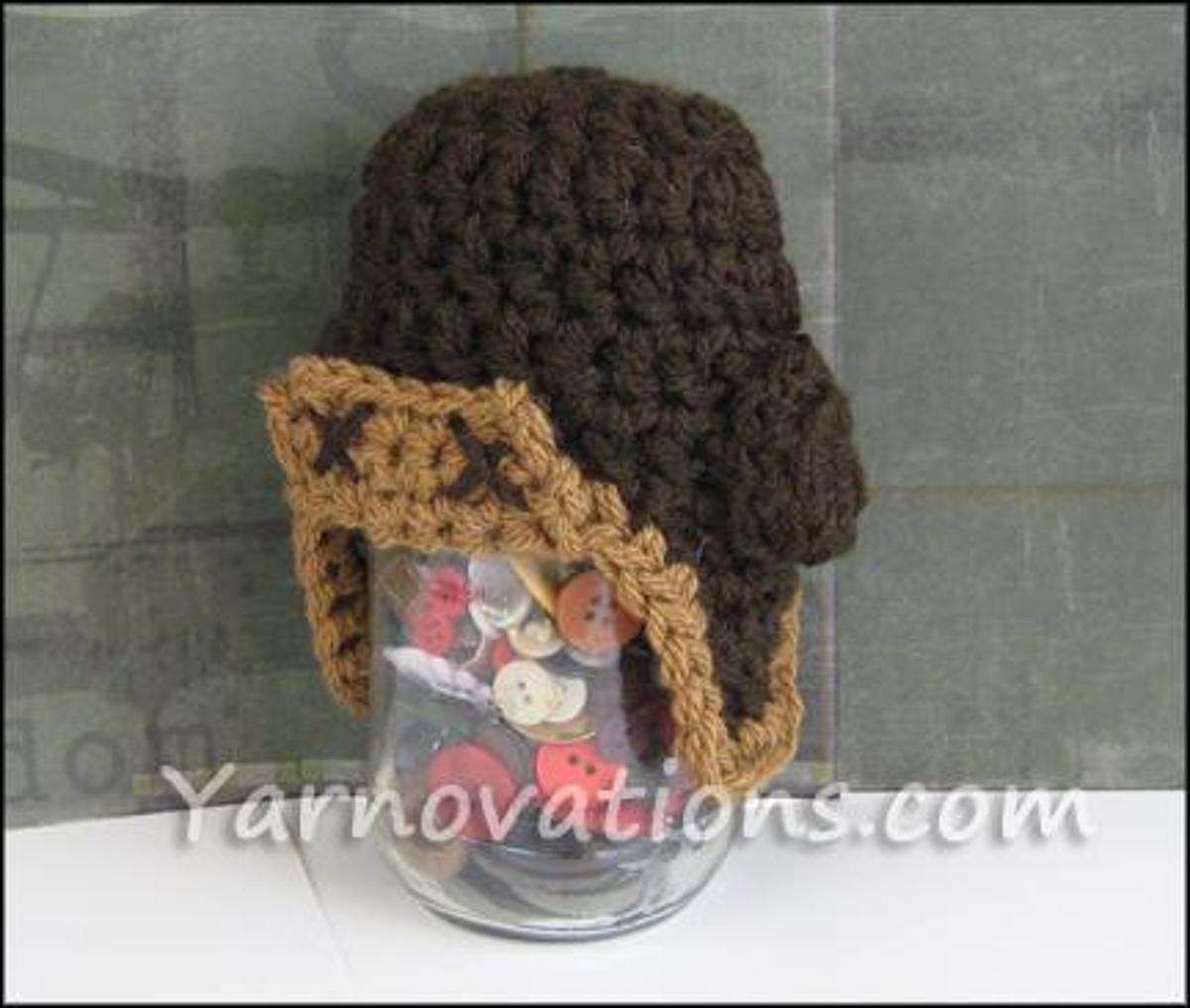 Newborn Aviator Hat FREE Crochet Pattern