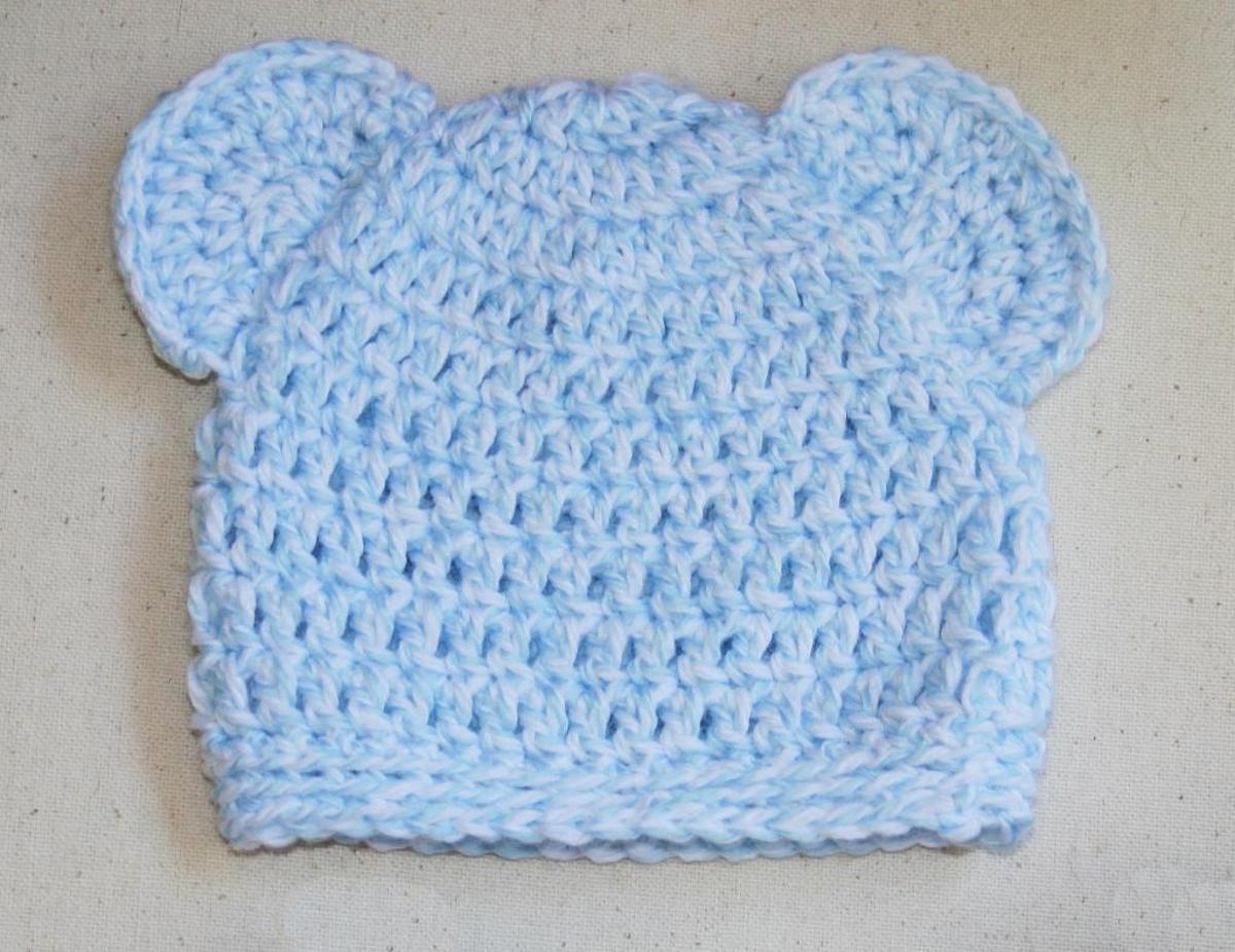 Newborn Baby Bear Hat Crochet Pattern