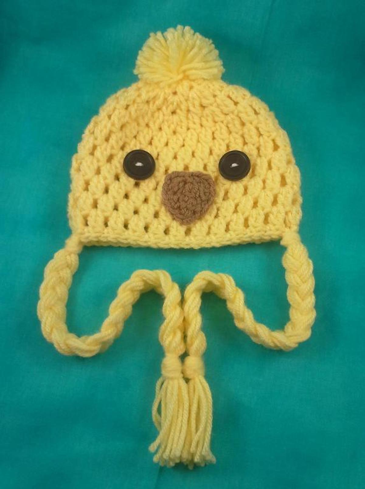 Newborn Baby Chick Hat Crochet Pattern