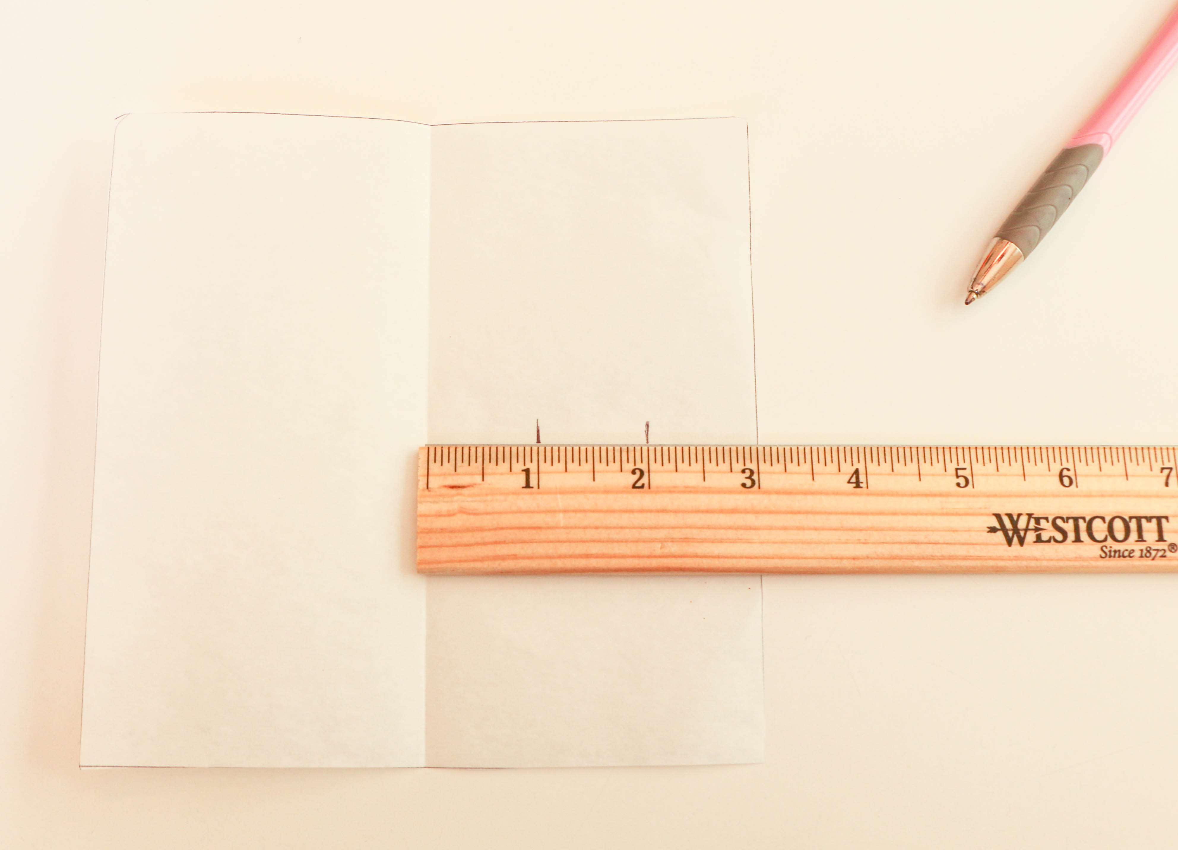Marking a Square Parchment Paper Cake Template