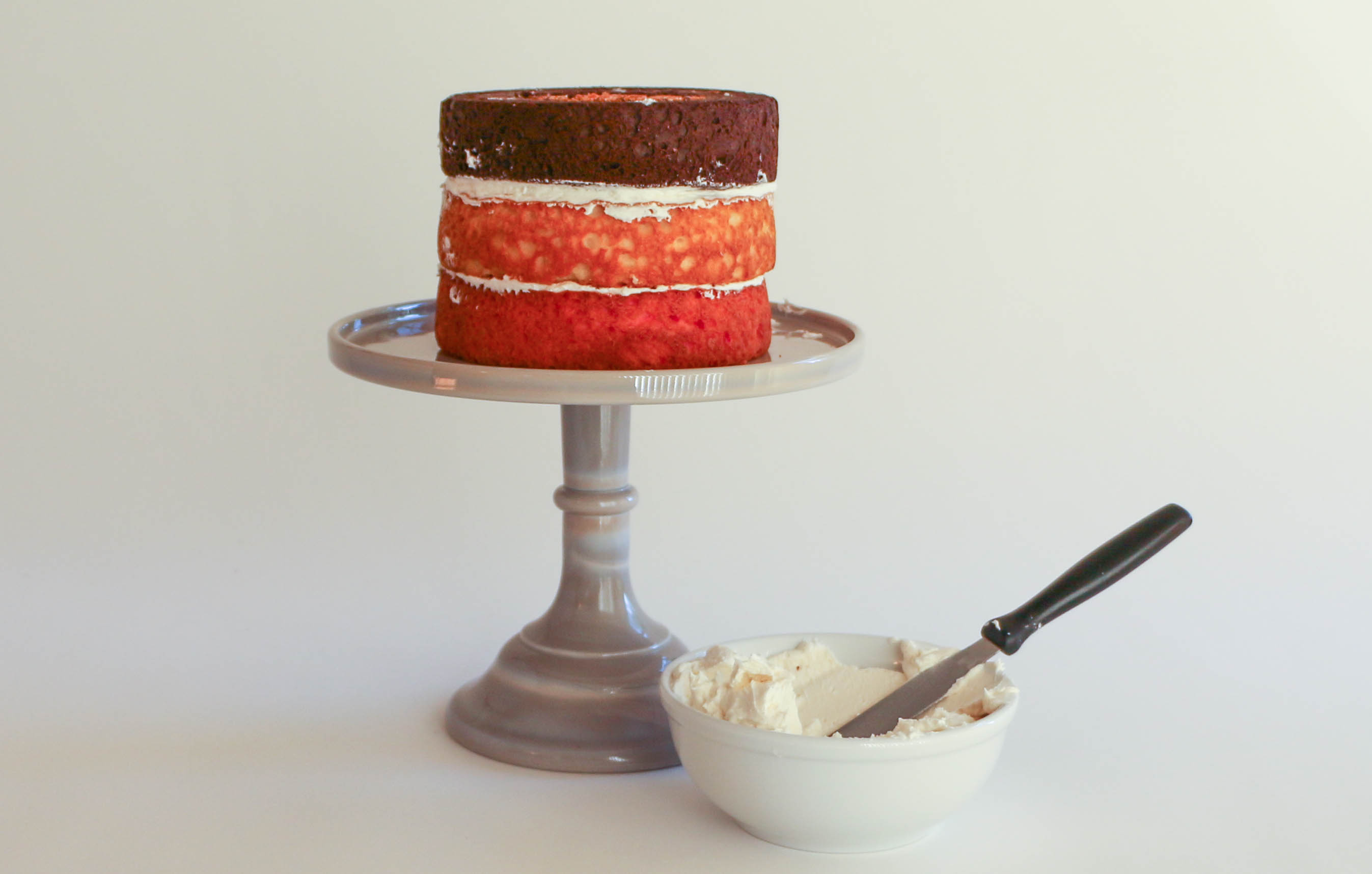 Three-Color Layer Cake
