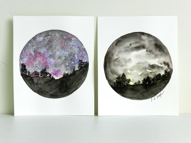 How to Paint a Night Sky in Watercolor: A Bluprint Tutorial