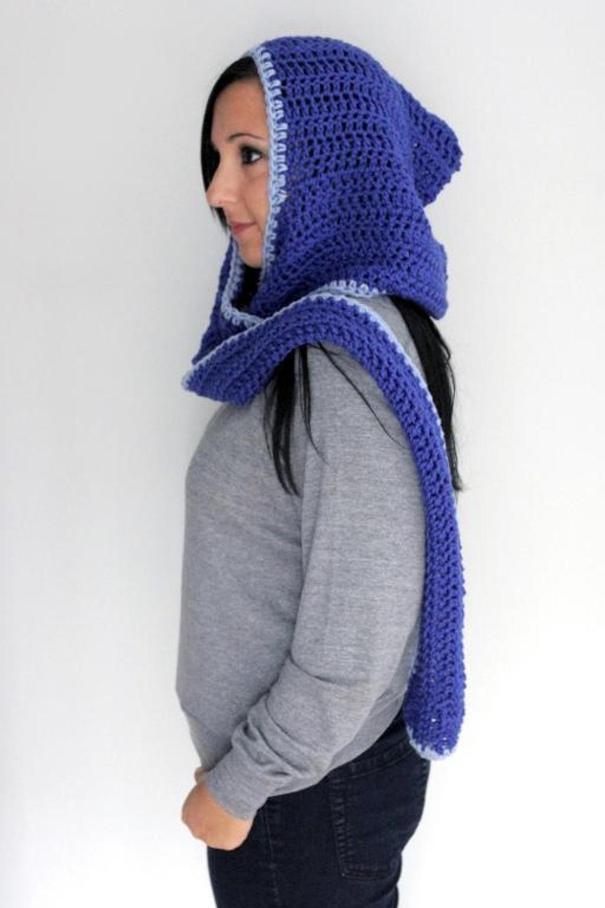 Pixie Austin Hooded Scarf Crochet Pattern