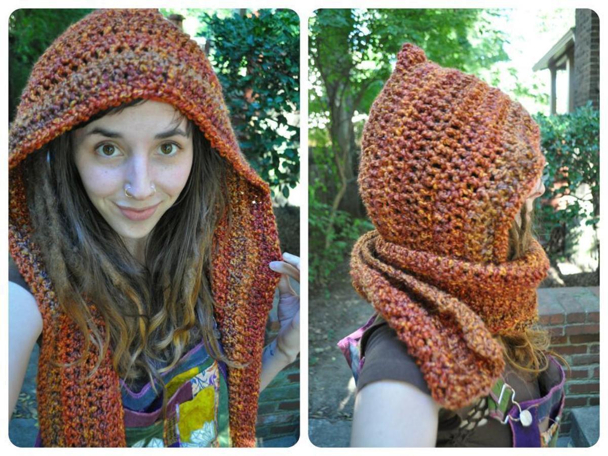 Pixie Hooded Scarf Crochet Pattern