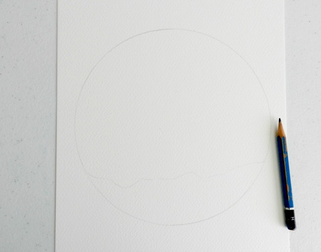 Circle Traced in Pencil on White Paper