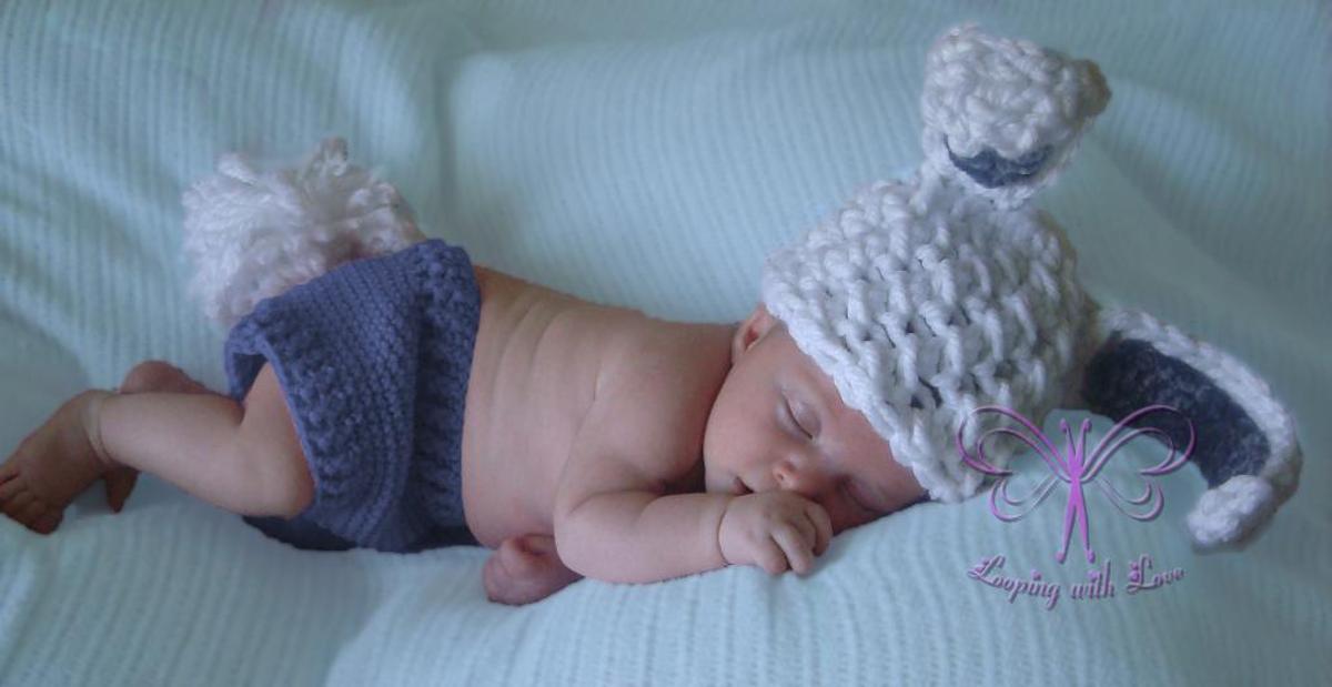 Some Bunny Loves Me Beanie Crochet Pattern
