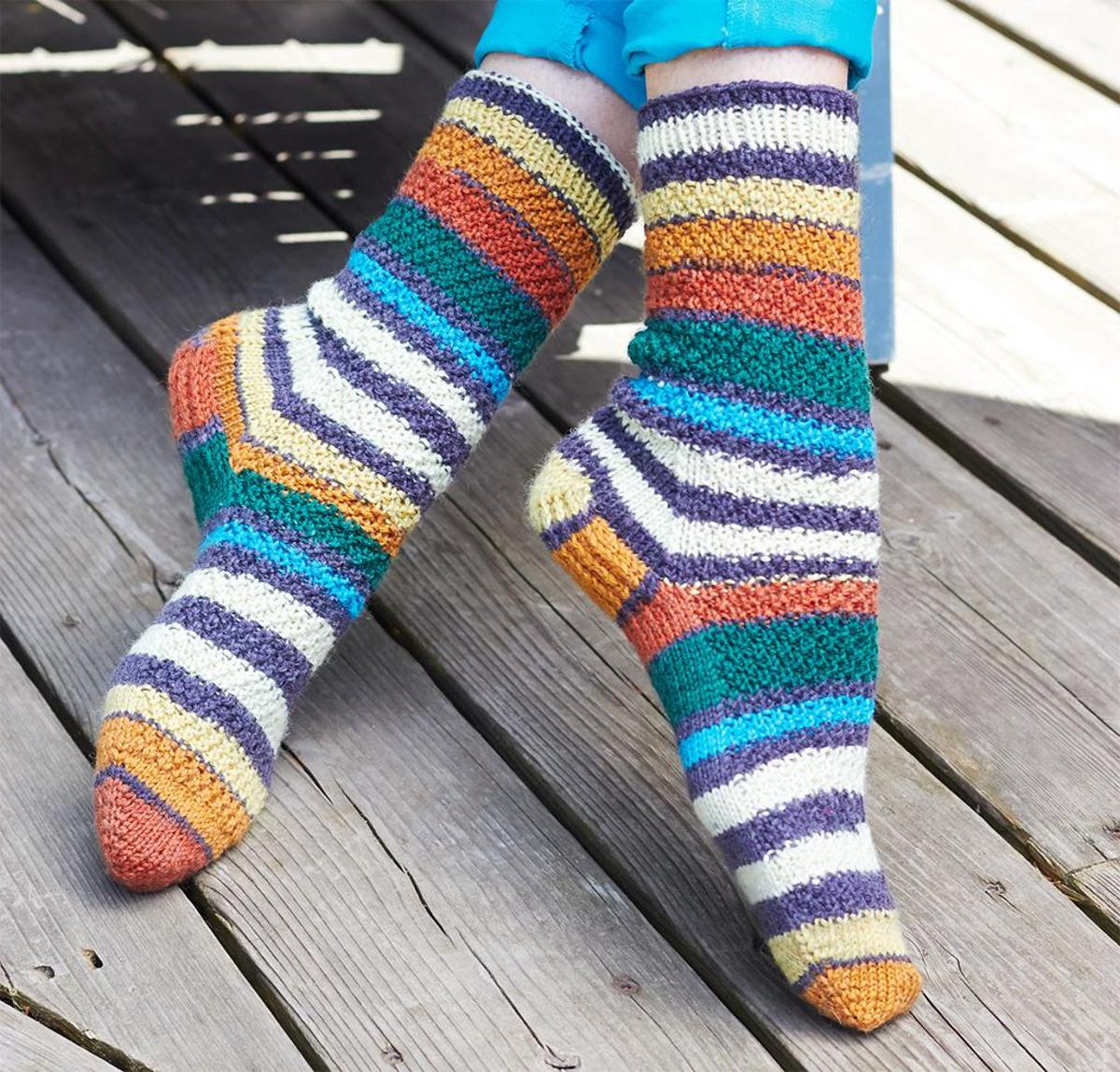 Step Dance Socks Knitting Kit