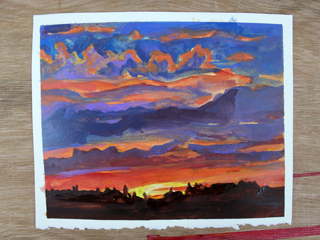 Learn how to create asunset acrylicpainting in this easy-to-follow tutorial.