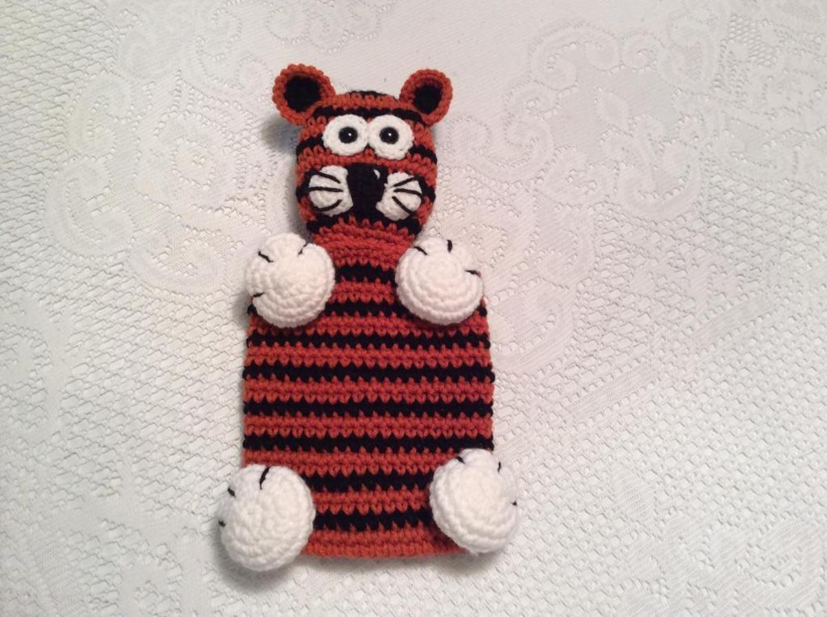 Tiger Snuggle Buddy FREE Crochet Pattern