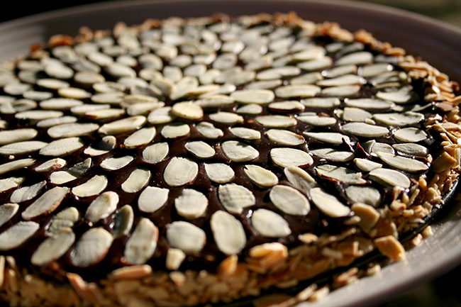 Make this almond chocolate ganache tart with just three ingredients!