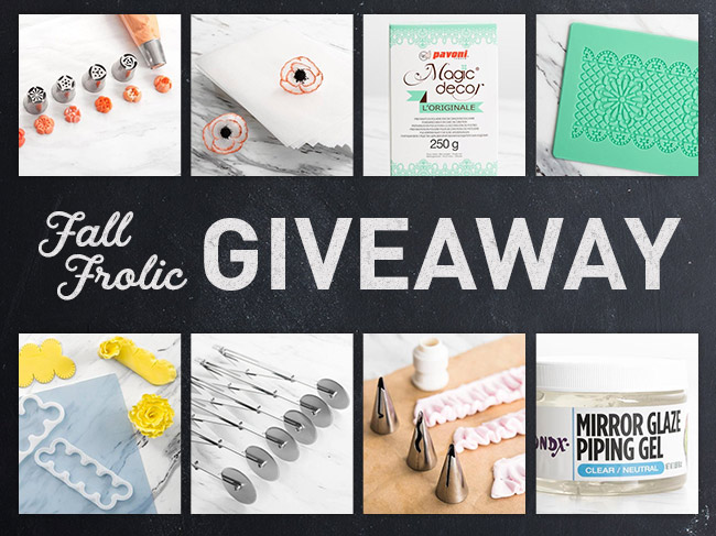Fall Frolic Cake Decorating Giveaway
