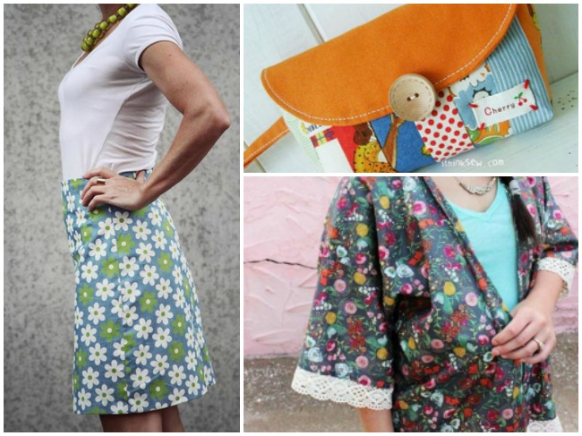 Beginner Sewing Patterns Collage