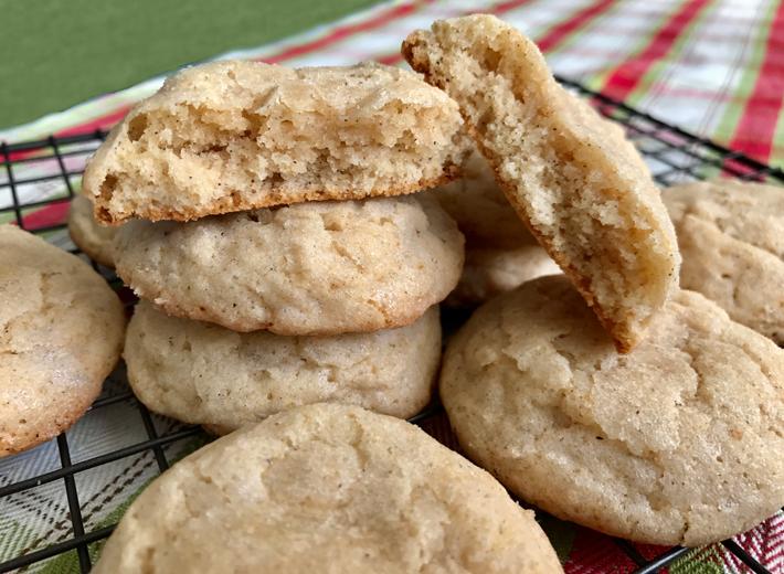 Fluffy Eggnog Cookies
