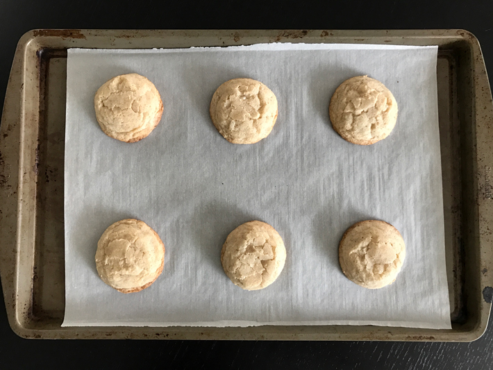 Eggnog cookies fresh out of the oven