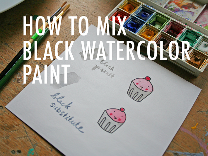 How to mix black watercolor paint