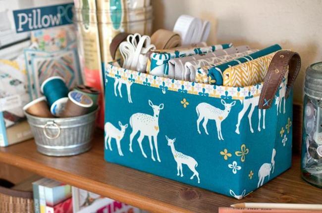 FREE Sturdy Fabric Basket Pattern - Lillyella Stitchery