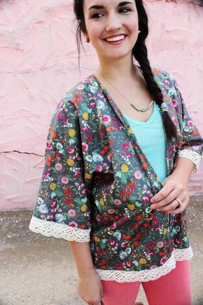 Free Kimono Jacket Pattern - Sew Caroline