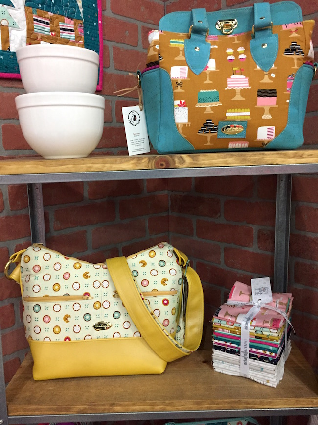 Purses Made with Patty Sloniger's Bake Shop Fabric