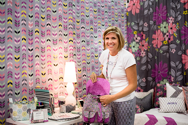 Jackie McFee at Quilt Market 2016