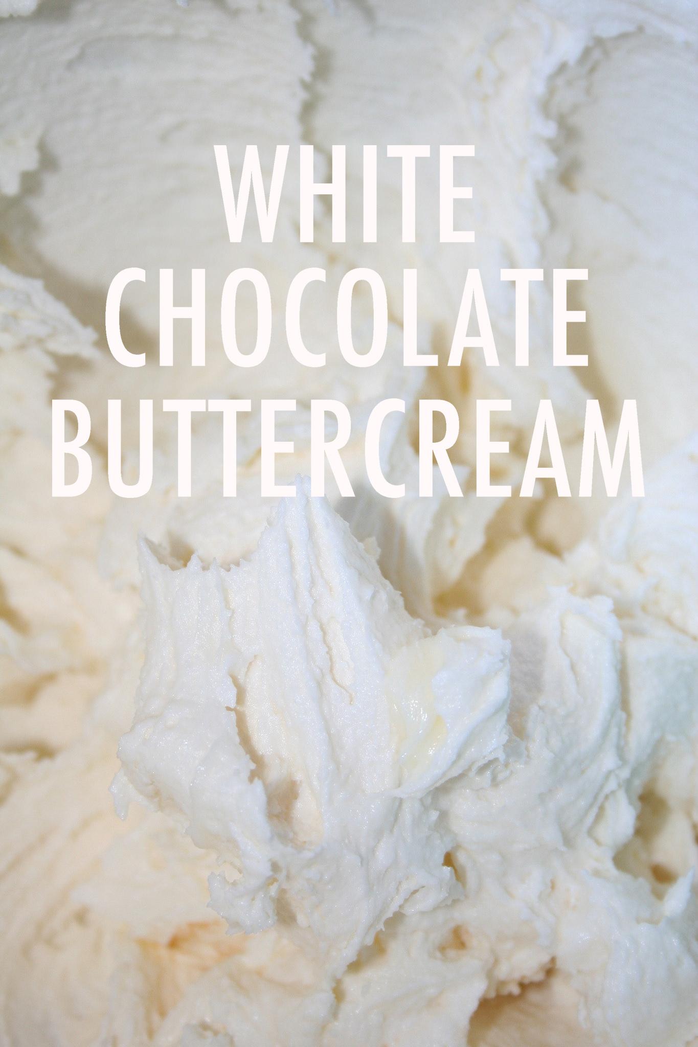 White chocolate buttercream