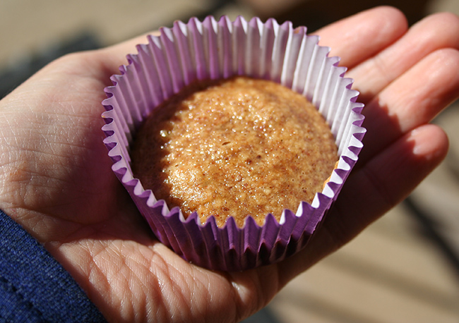 Baked in cupcake liner