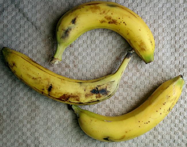Ripe bananas are best