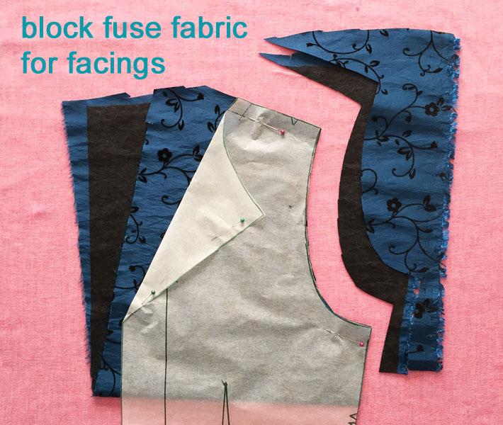 block fuse the facings