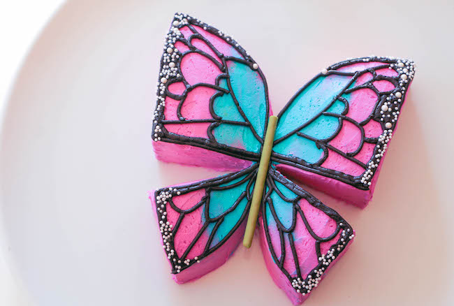 Easy Buttercream Butterfly Cake