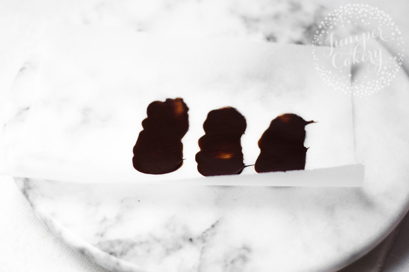 simple and sweet chocolate feather tutorial