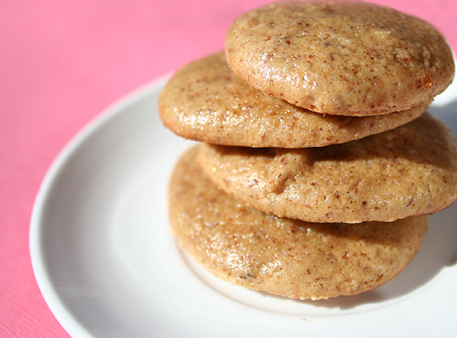 Stack of almond butter cookies