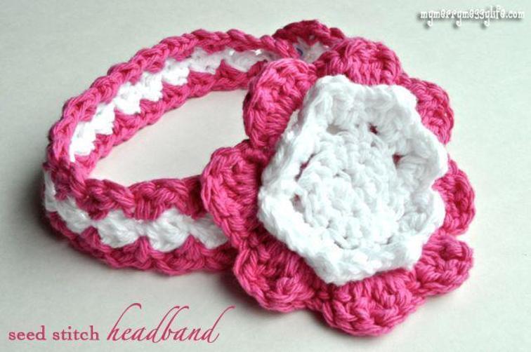 Crochet Seed Stitch Baby Headband