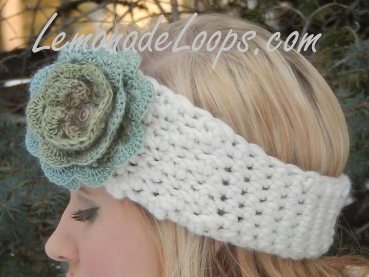Desert Rose Crochet Earwarmer Headband