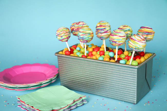 Colorful Cake Pop Display
