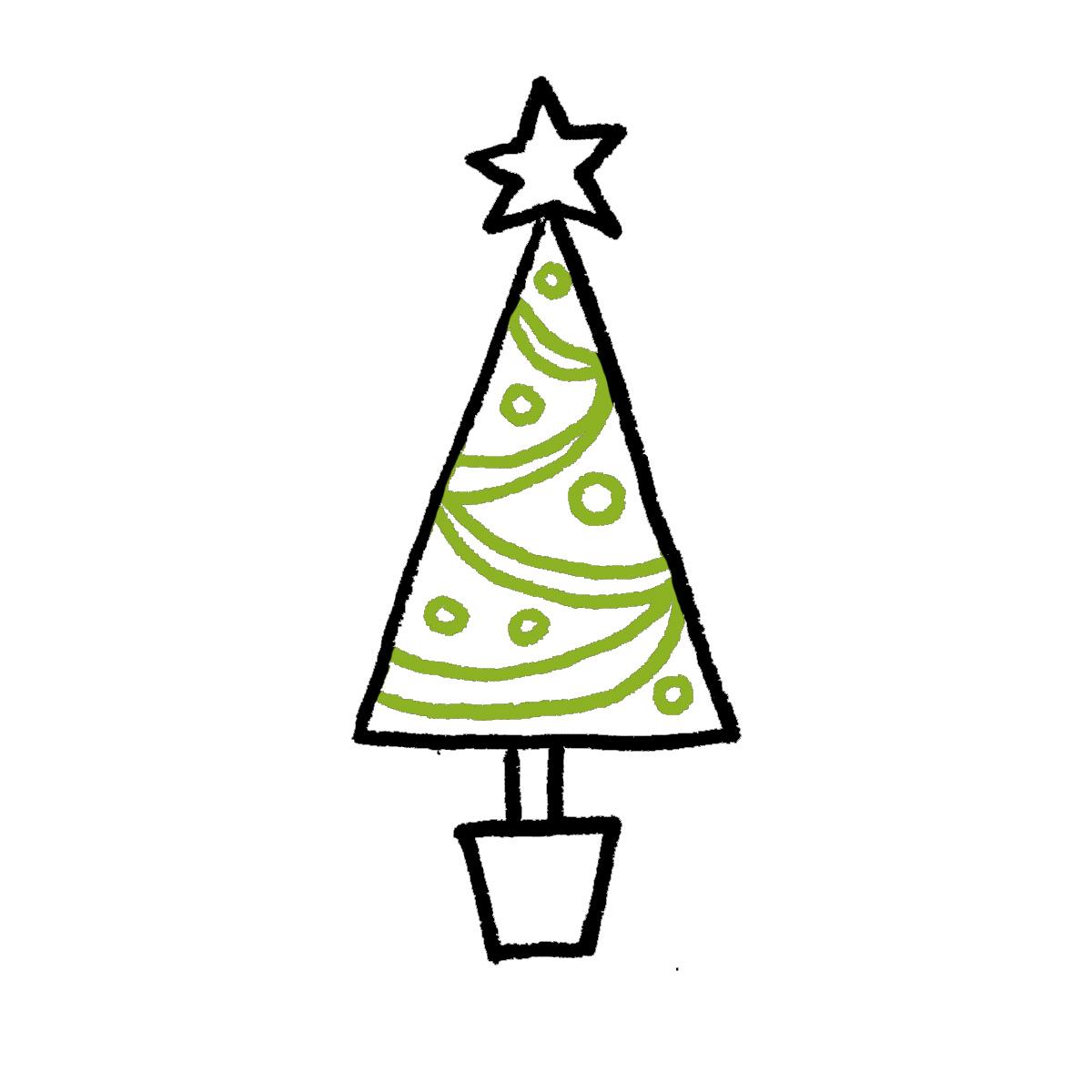 Drawing Christmas Tree Decorations